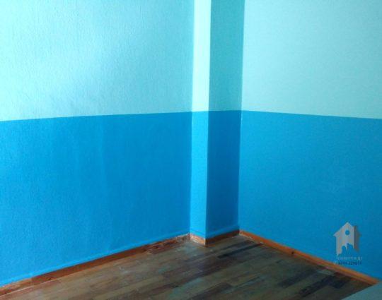 Διχρωμία παιδικού δωματίου οριζόντιος χωρισμός
